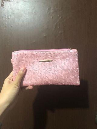 粉紅 手提包 零錢包 手拿包 附吊帶