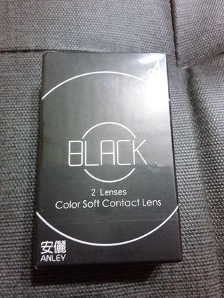 安麗 軟式隱眼 年拋 黑色 750度