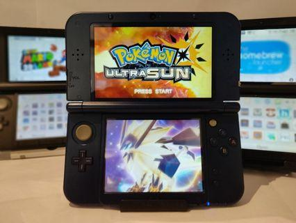 Nintendo 3ds ( Modded ) + Pokemon Ultra Moon / Sun + 800 Games + Charger + Case + NDS Emulator 100% Original Ready Stock