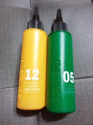 黃色&綠色 染髮劑