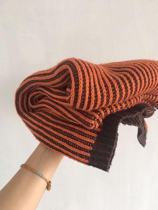 復古 超舒服雙色圍巾