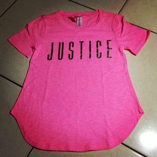 Tshirt pink justice