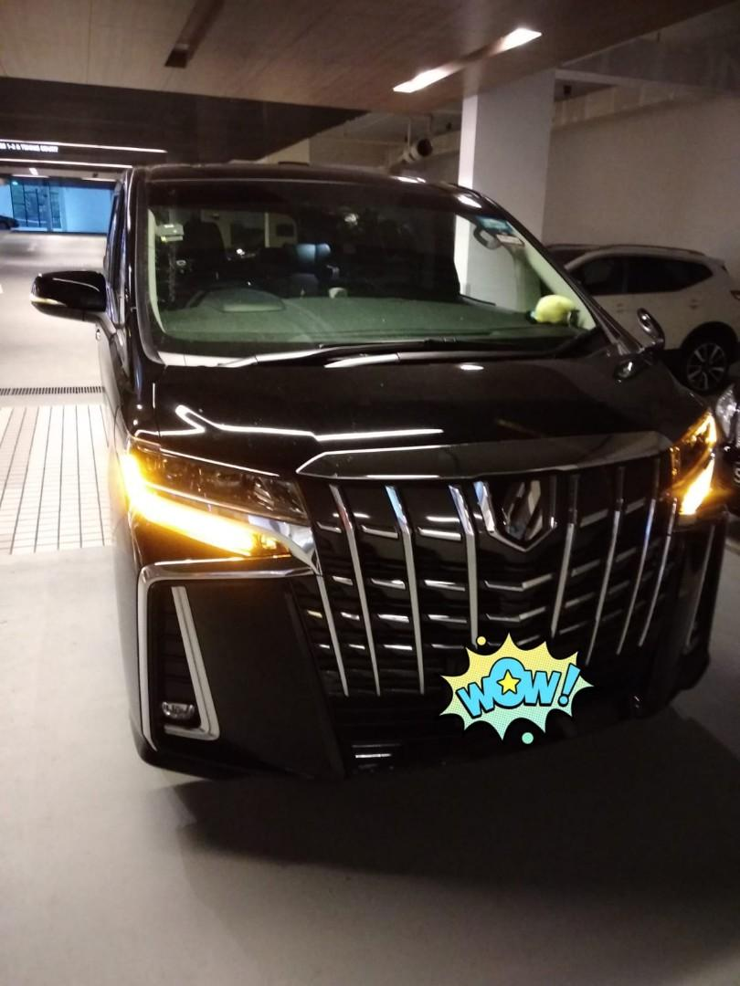 2018 NFL Toyota Alphard for rent! $130 per day! 3000 deposit for 2 year contract get back 5K at the end of contract