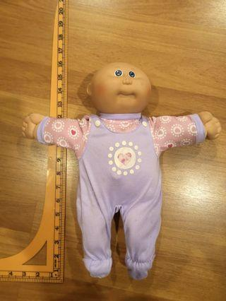 """Vintage Coleco Cabbage Patch Kids 1982/4 Baldy Blue Eyes Overall Babysuit 14"""""""