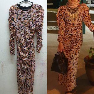 Long Dress Zara Size M