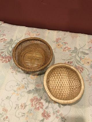 Mini rattan baskets