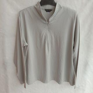 Sale 50% Longsleeve Grey Blouse