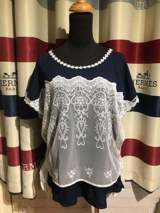 🇯🇵日本品牌 布蕾絲造型上衣 全新