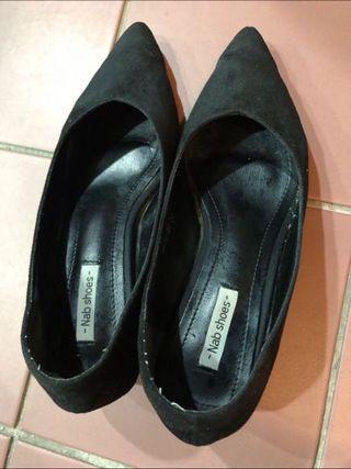 尖頭跟鞋/二手,尺寸24=38。$100
