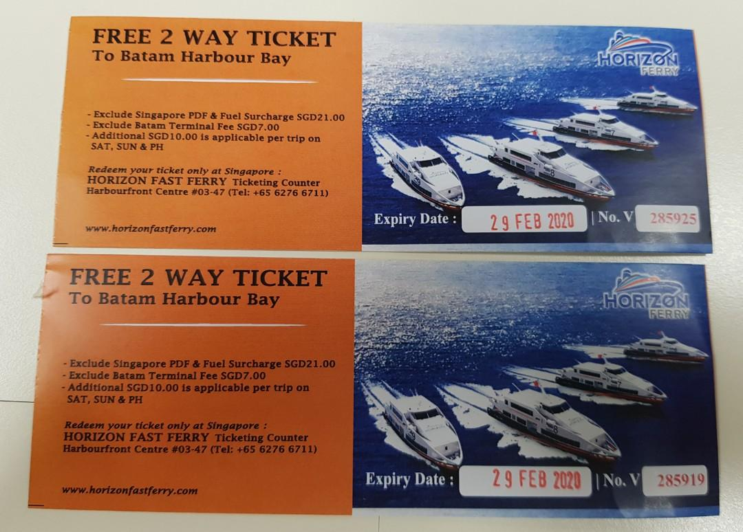 2 Way Ferry Ticket to Batam Harbour Bay