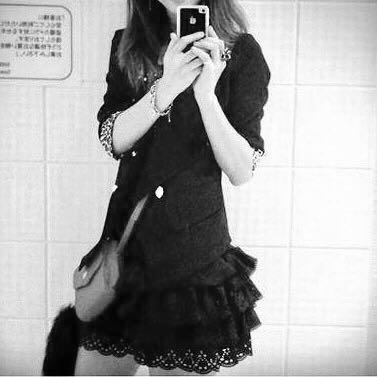 黑色雪紡簍空燒花短褲裙