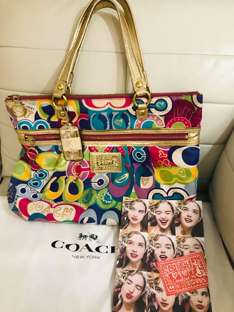 🌸 Authentic Coach Poppy Tote Purse 🌼