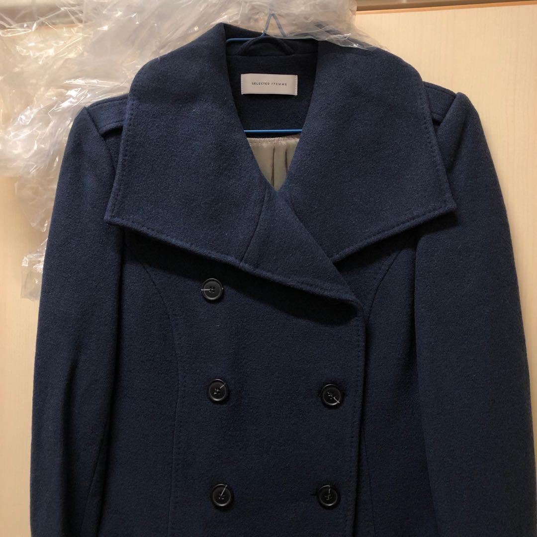 ⭐️ Danmark Selected Femme bestseller pocket coat jacket 購自北歐 丹麥 品牌 歐洲 有袋 大衣 外套。已乾洗。購自北歐 丹麥,原價近二千,可看官網類似款式價錢。已是超低價。