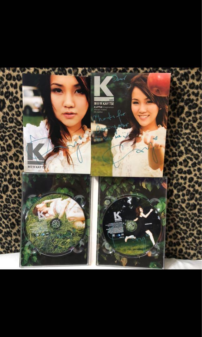 謝安琪 Kay Tse  K sus2  親筆簽名cd ( 一碟四簽)