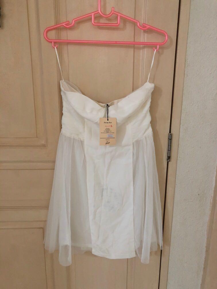 Agneselle White Tube Dress