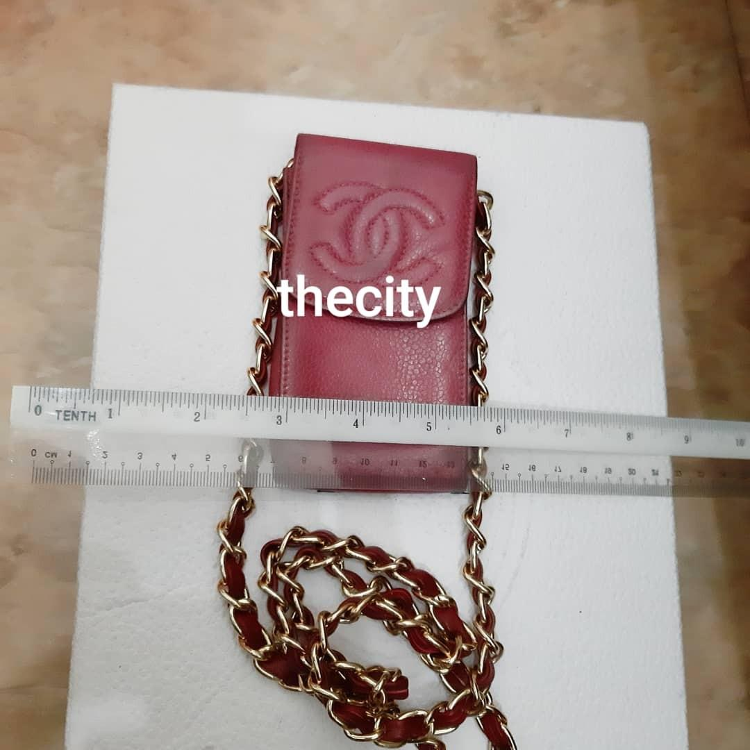 AUTHENTIC CHANEL CAVIAR LEATHER  CC LOGO VANITY POUCH- HOLOGRAM STICKER INTACT - GOLD HARDWARE - VINTAGE TIMELESS CLASSIC,  SO NOT FOR FUSSY BUYERS - CAN REFRESH AT BAGSPA - COMES WITH EXTRA HOOKS AND LONG CHAIN STRAP FOR CROSSBODY SLING