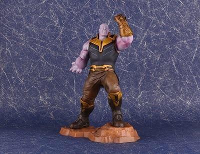 Avengers Captain Marvel 22-27cm Thanos ironman spiderman Deadpool Danvers Statue KO's Iron Studios PVC Action Figures toy figure