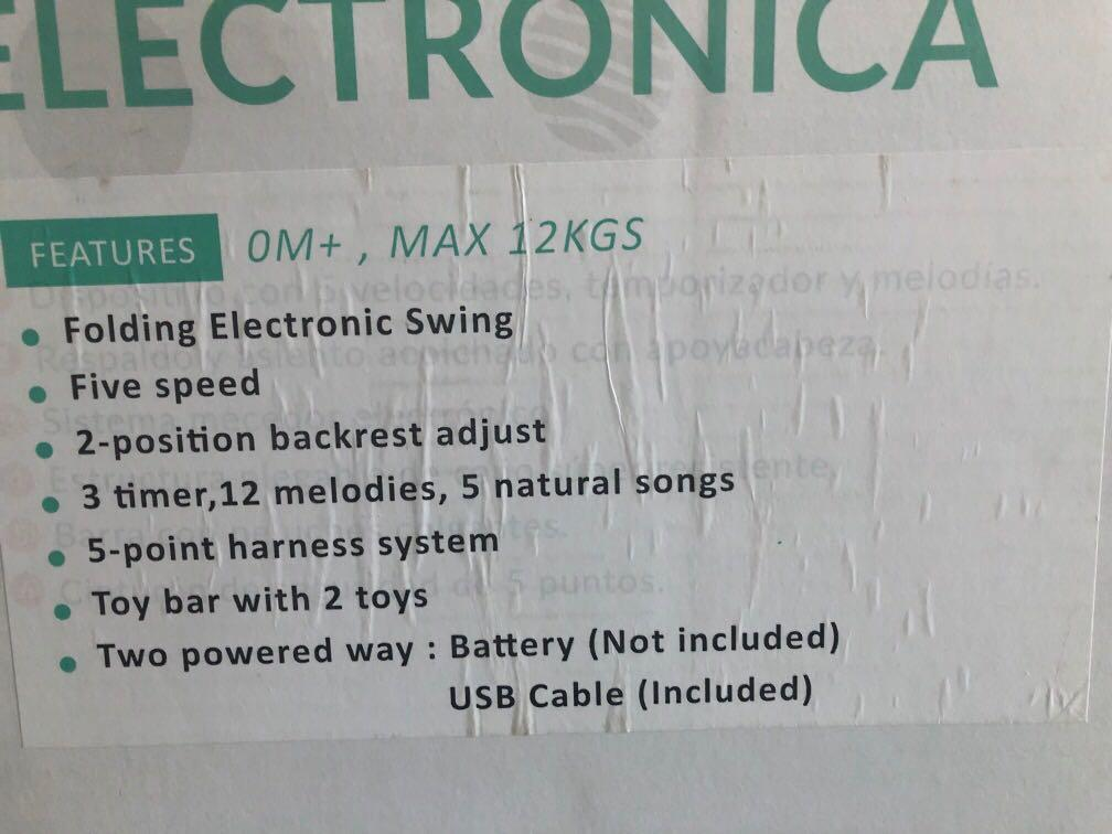 Baby electrical swing