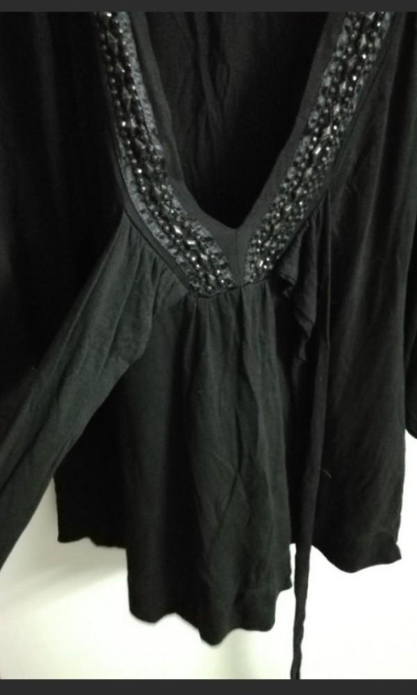 Black Top with beads
