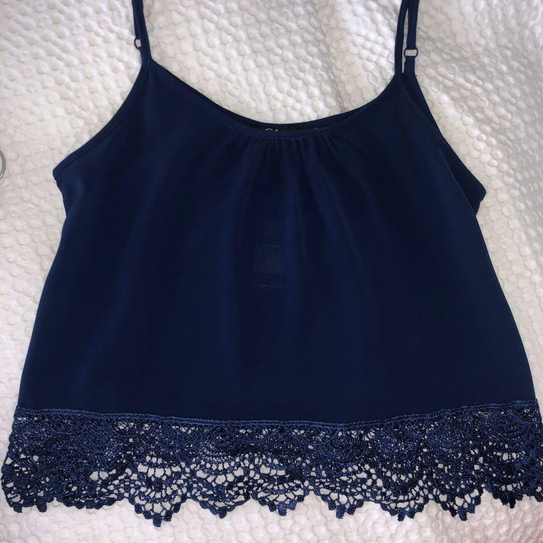 BNWT blue lace cami