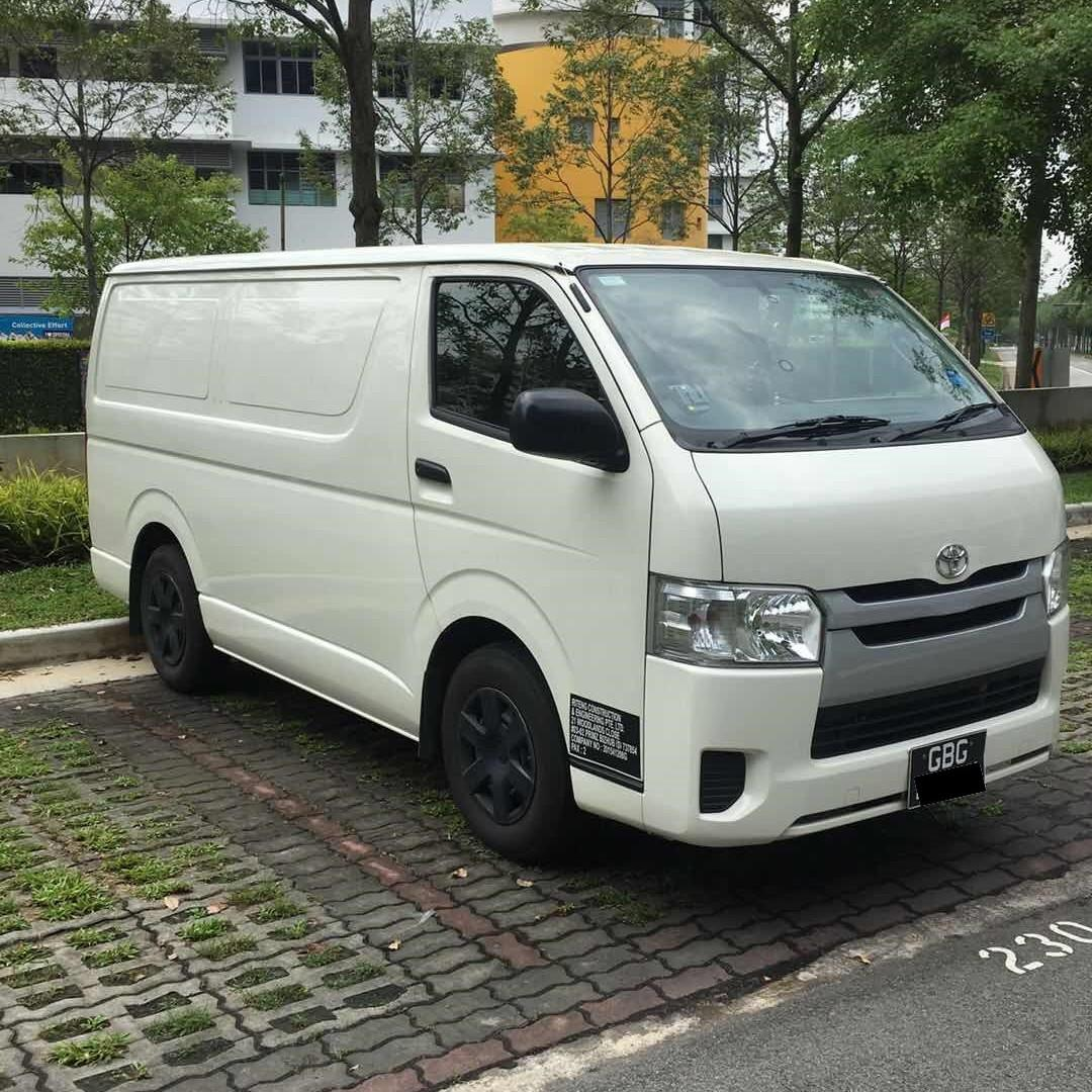 Brand New Toyota Hiace Auto Gear Van for rent,contact 92213630