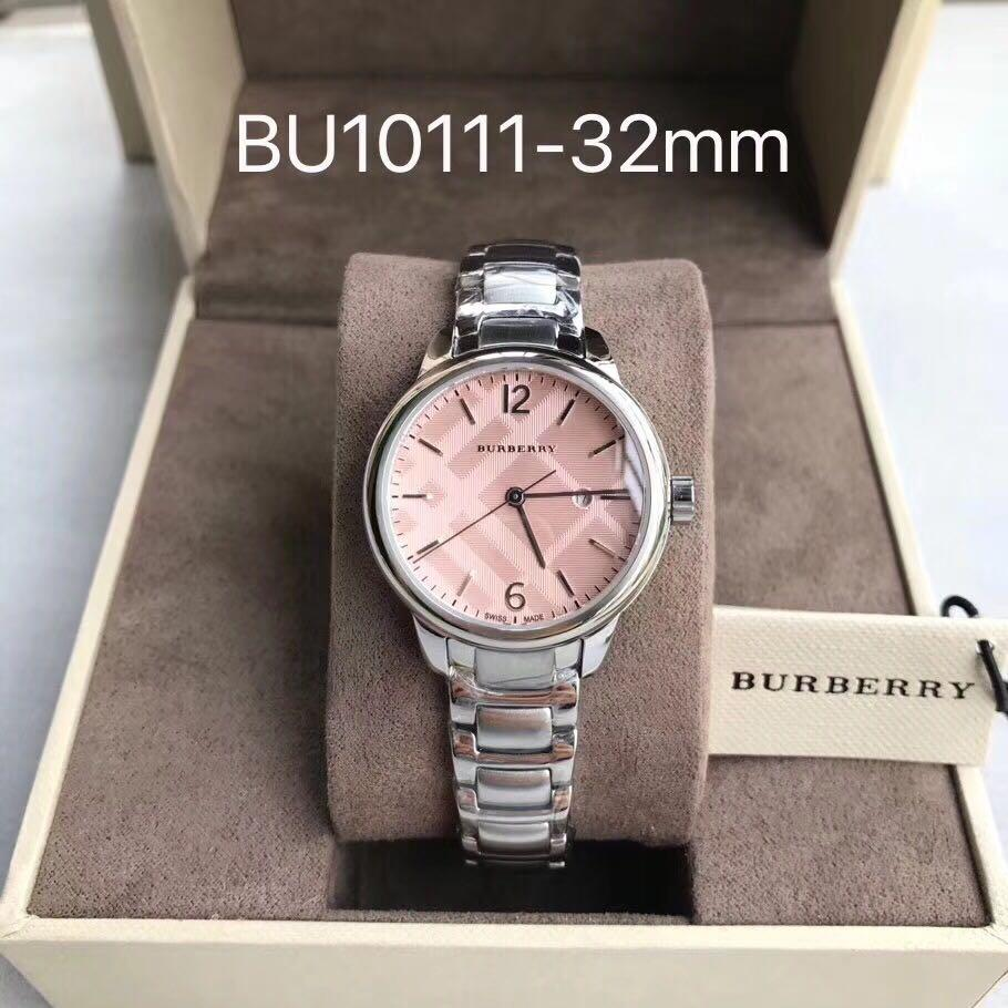 Burberry Silver/ Pink Stainless Steel with Dial Women's Bu10111 Watch