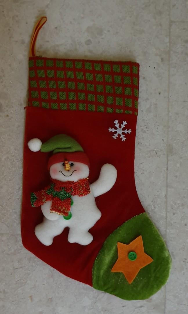 Christmas stocking and winter cone - for decor
