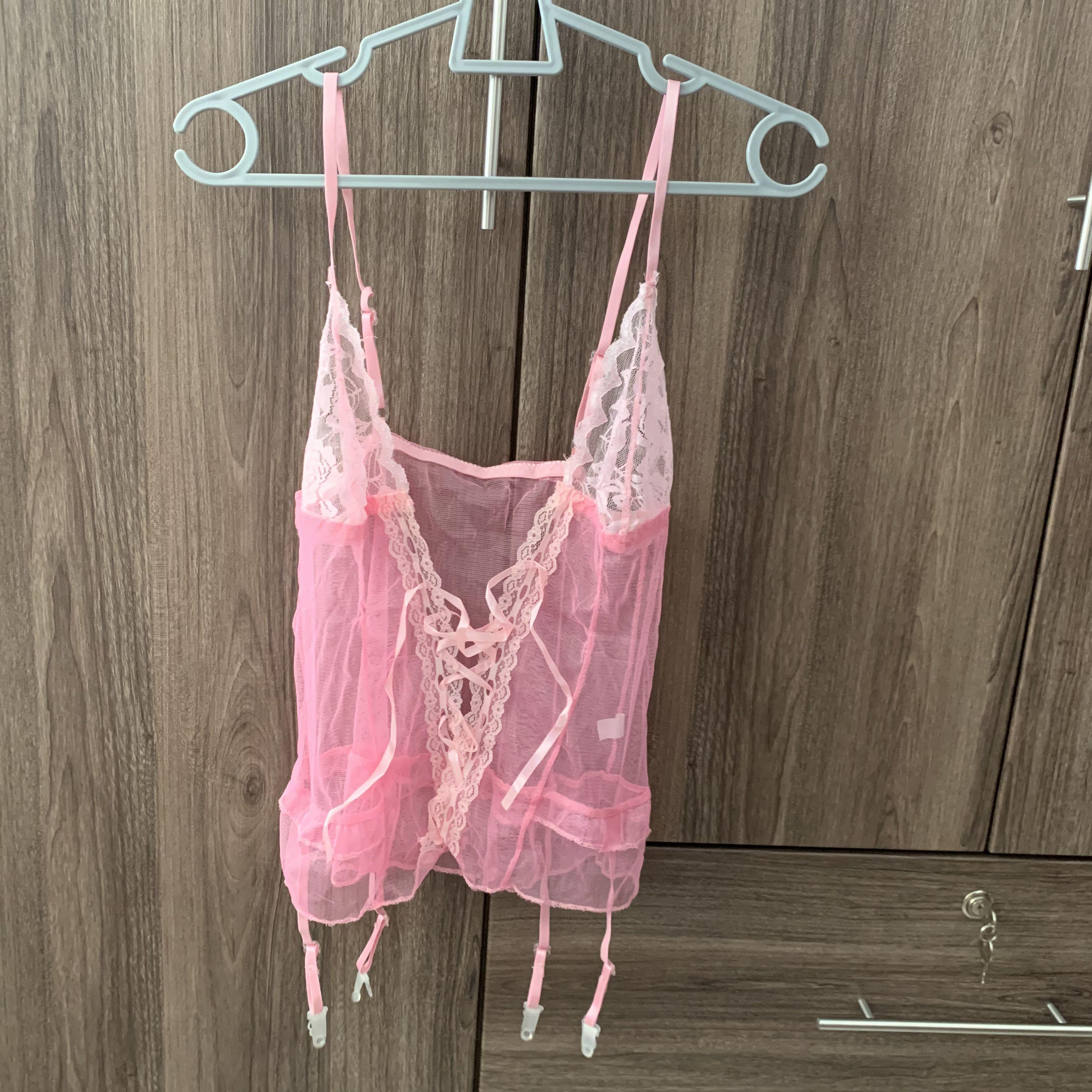 (CLEARANCE) Sexy Lingerie/Nightwear/Sleepwear (Transparent) comes with free G-String
