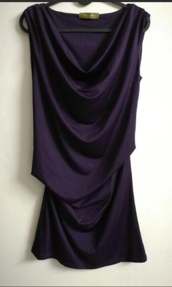 Cowl neck  Purple dress