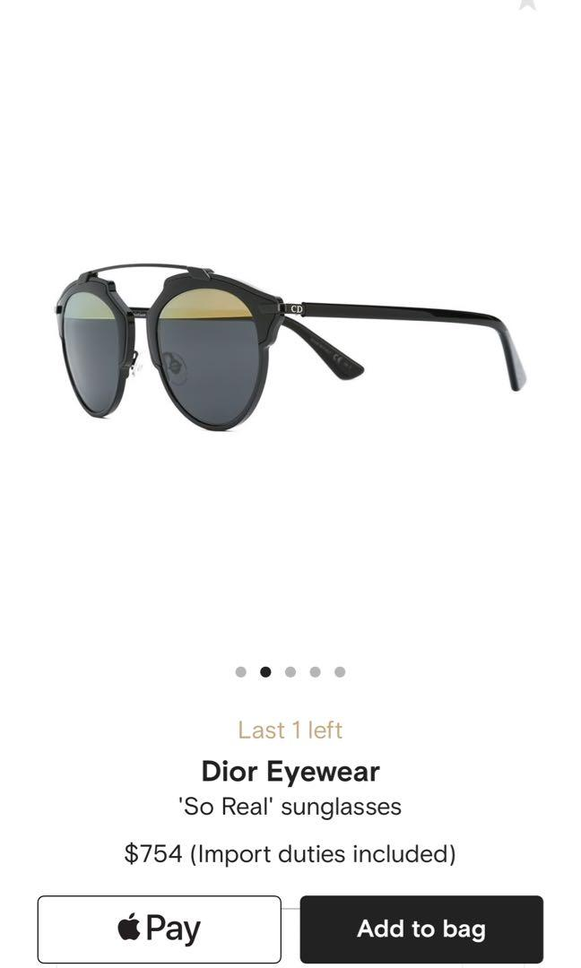 Dior unisex sunglasses authentic