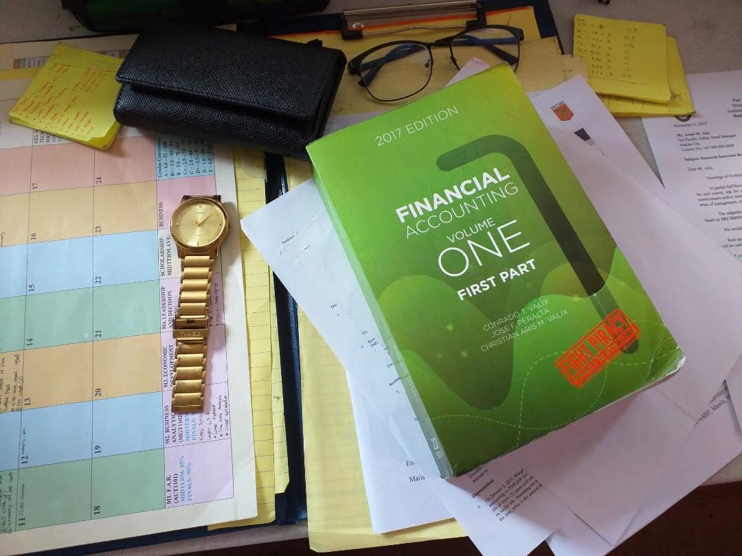 Financial Accounting Volume 1 First Part latest 2017 Edition by Conrado T. Valix, Jose F. Peralta and Christian Aris M. Valix