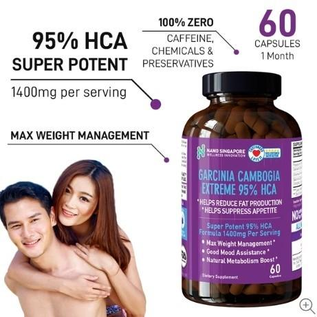 Garcinia Cambogia Extreme 1400mg Highest 95 Hca Slimming Weight Loss Fat Burner Dietary Supplement Health Beauty Skin Bath Body On Carousell