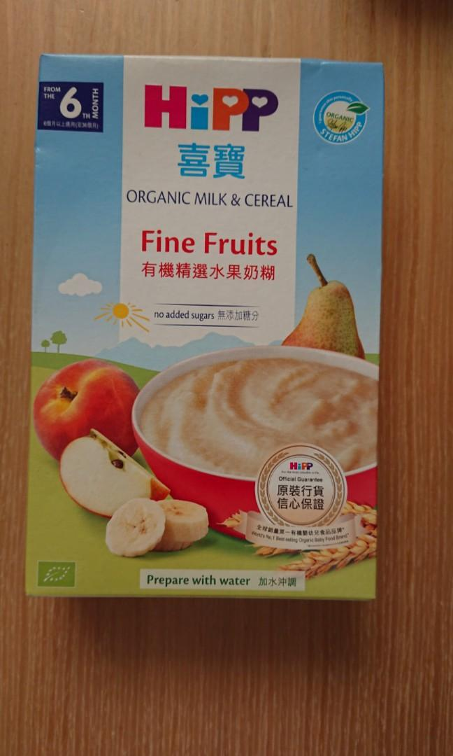 HIPP 米糊 ORGANIC ORGANIC MILK & CEREAL FINE FRUITS 250G