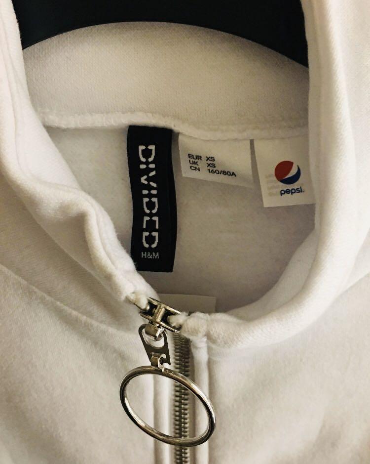 H&M x Pepsi 百事可樂 logo 白色外套 jacket hoodie sweater 非 Adidas Puma monki
