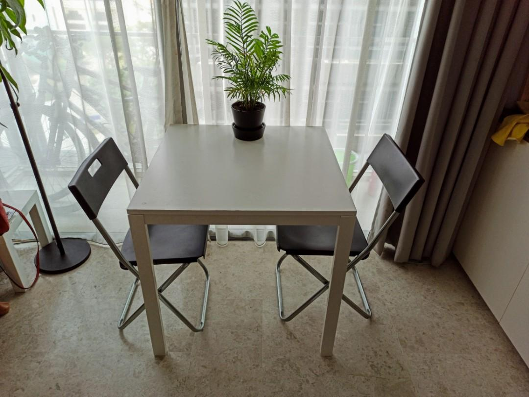 IKEA Dining Table 75x75cm + 2 chairs