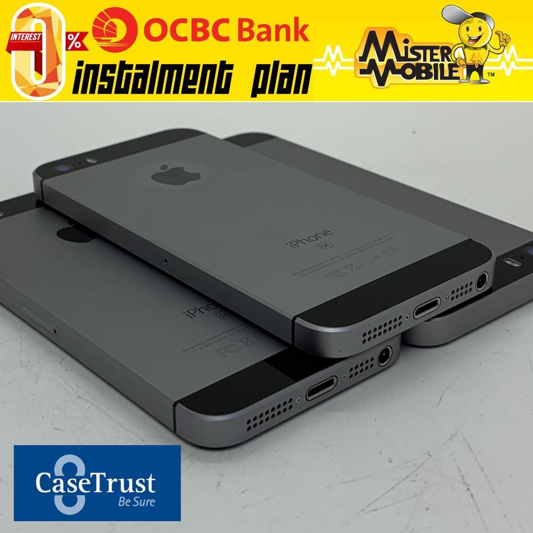 iPhone SE 64GB Space Gray iP5SE Black 64 A1723 Used Apple