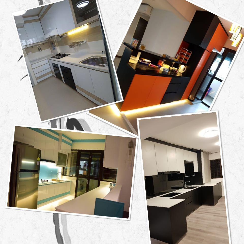 Kitchen Cabinet ! Full set with hob & hood ! $3200 nett internal color PVC!painting 30% off!Double 11 Promotions