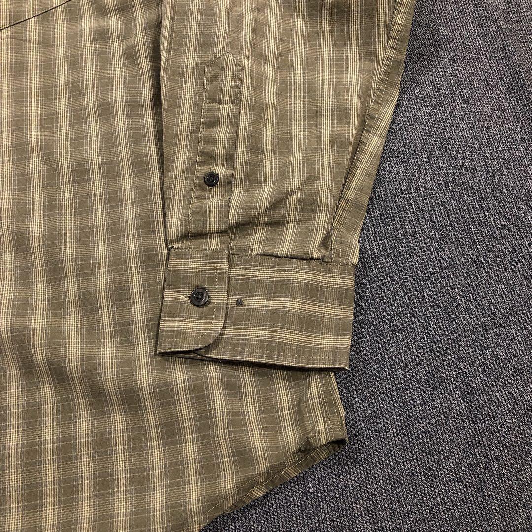 古著綠色格紋襯衫(L)