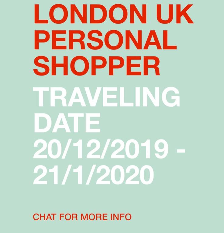 LONDON PERSONAL SHOPPER