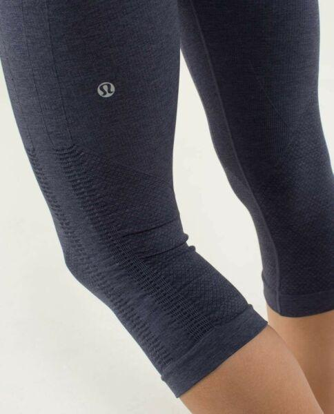 Lululemon Ebb And Flow street Crop Inkwell size CAD 8 tights leggings