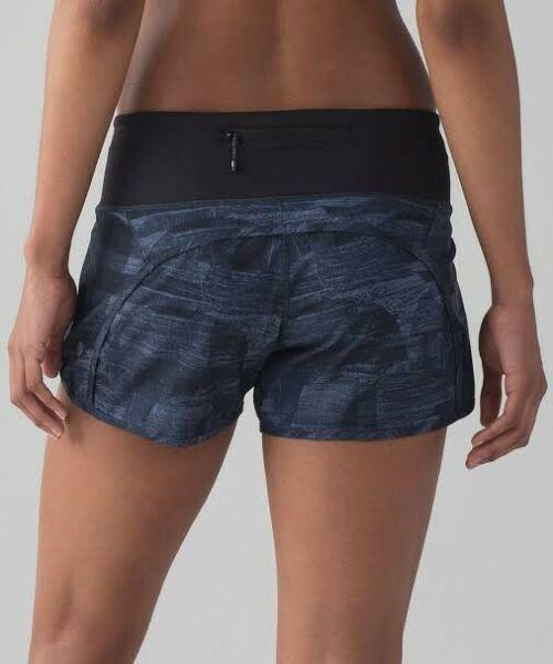 LULULEMON RUN TIMES SHORTS CAD 4 TRANSITION MULTI MIDNIGHT NAVY SPEED
