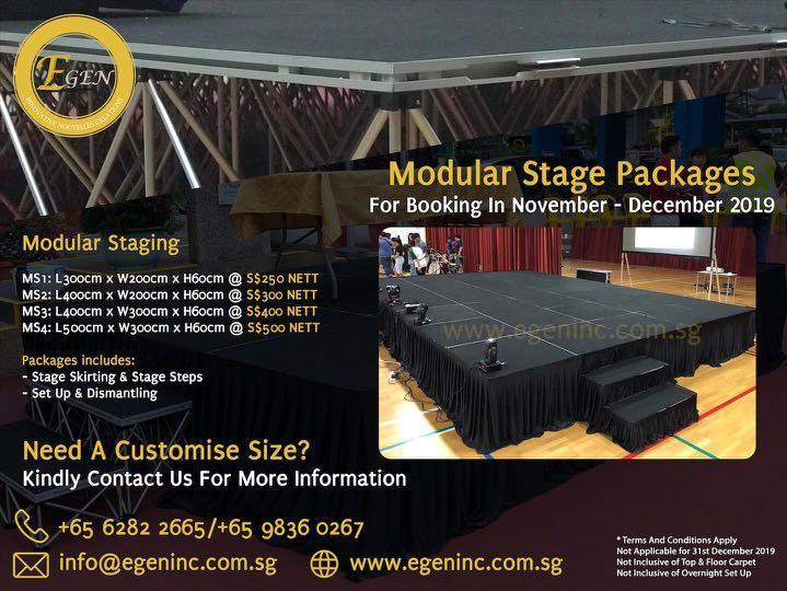 Modular Stage Rental