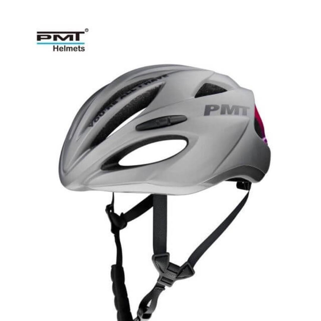 💯🆕(New Model) PMT Premium Helmet (Lance Edition)(Titanium Pink) (Competition Model: Extra Safe)