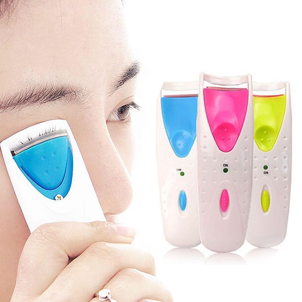New Women Makeup Electric Heated Eyelash Curler Long Lasting Eye Lash Perm Heated Eyelashes Clip Recourbe Automatic Tool