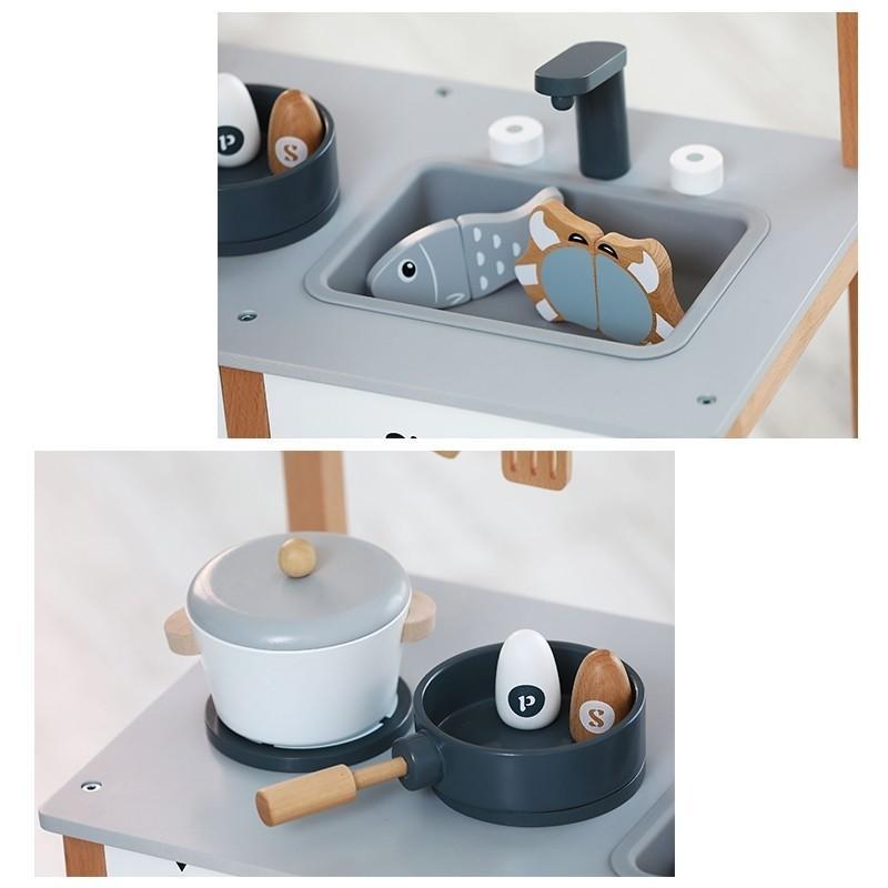 Nunukids Wooden Play Kitchen Set