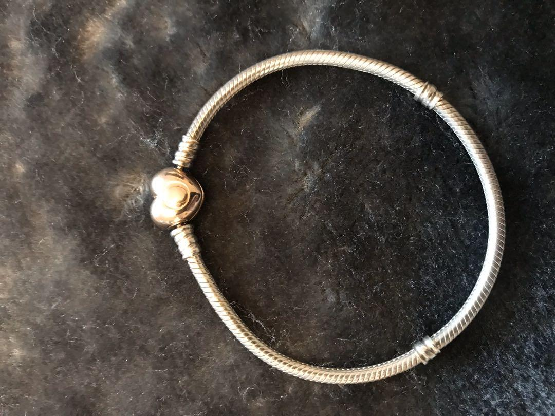 Pandora Rose Heart Clasp Bracelet