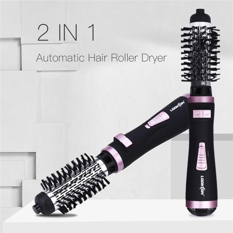 Professional Hair Dryer Curler Comb 2 In1 Multifunction Hair Styling