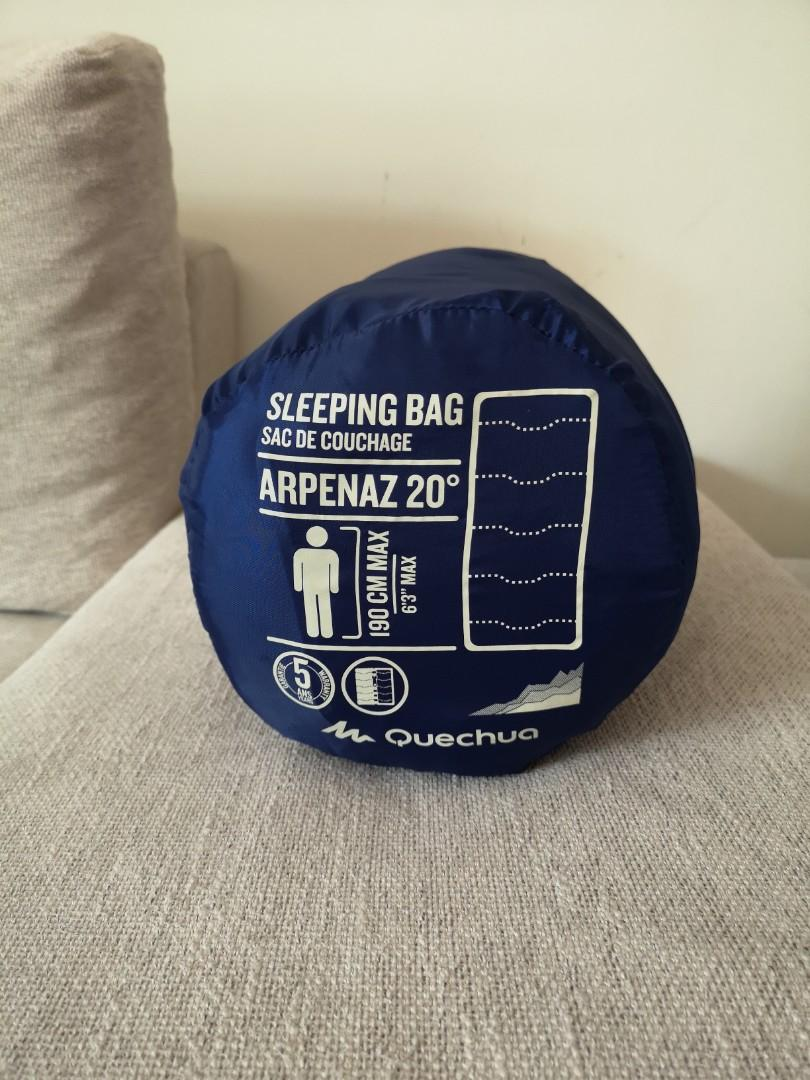 Quechua sleeping bag, only used once