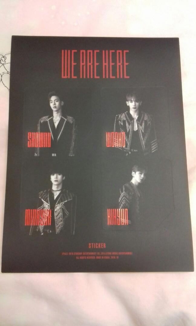 [READY STOCK] 2019 MONSTA X WE ARE HERE WORLD TOUR IN SEOUL STICKER