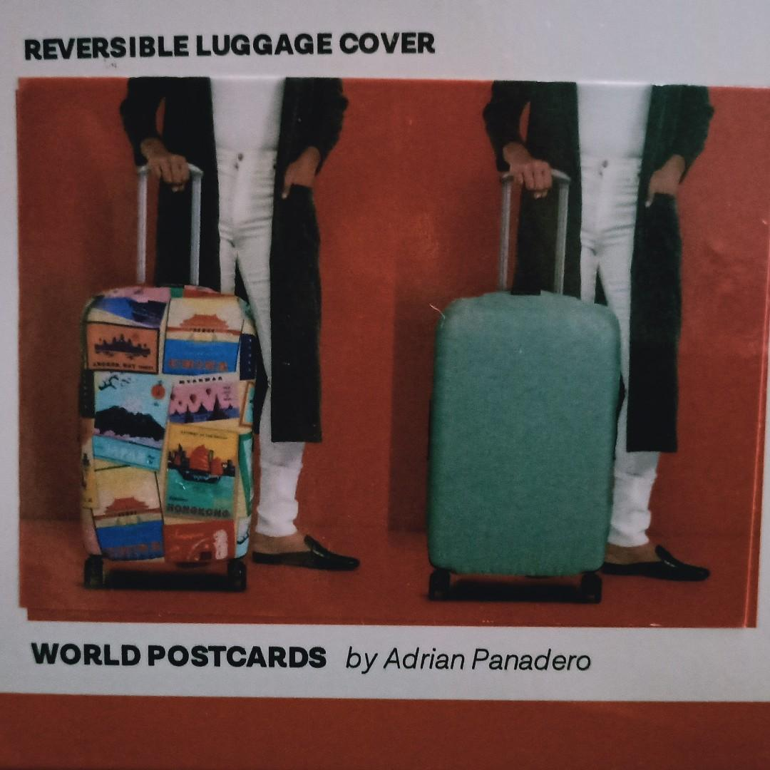Reversible Luggage Cover - World PostCards